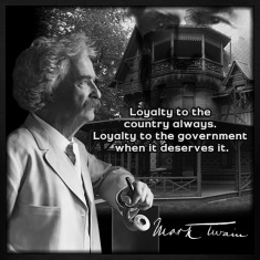 Mark Twain Quote Shirt; Original Design by John Ruff