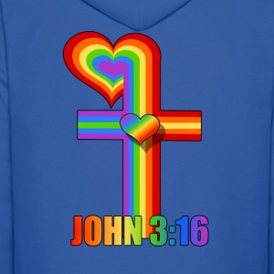 John 3:16/ Rainbow Cross Hoodies - Men's Hoodie