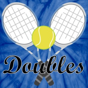 Tennis Doubles Racquet and Ball Sports T-Shirts - Unisex Tie Dye T-Shirt