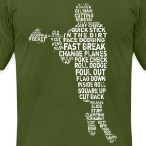 language of Lax (white print) T-Shirts - Men's T-Shirt by American Apparel