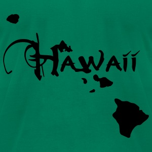 Hawaii, the surfers paradise island Ukulelisten. T-Shirts - Men's T-Shirt by American Apparel