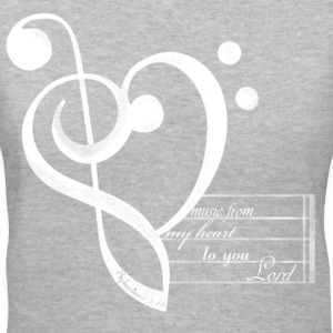 Heart Music Women's T-Shirts - Women's V-Neck T-Shirt