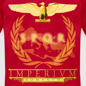 Roman Aquila SPQR Banner - Men's T-Shirt by American Apparel