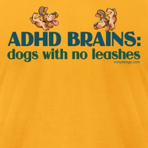 ADHD BRAINS - Men's T-Shirt by American Apparel