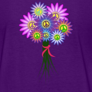 Hippie Girl Bouquet - Back Design - Women's T-Shirt