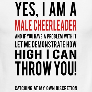 Yes I am a Male Cheerleader Ringer T-Shirt - Men's Ringer T-Shirt