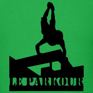 Le Parkour, Traceur, paving the way 2 T-Shirts - Men's T-Shirt