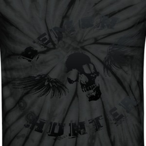 Demon Hunter Winged Skull Black T-Shirts - Unisex Tie Dye T-Shirt