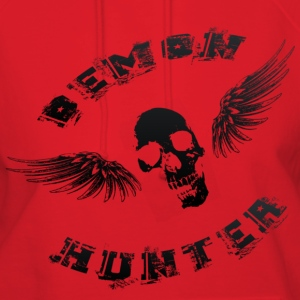 Demon Hunter Winged Skull Black Hoodies - Women's Hoodie