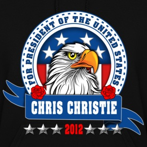 Chris Christie for president 2012 Eagle head Hoodies - Women's Hoodie