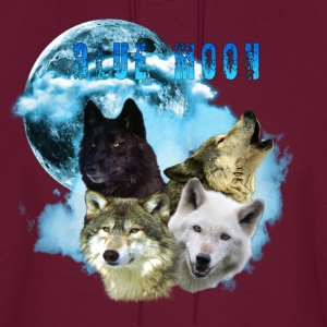 Blue Moon Wolves 2 Hoodies - Men's Hoodie