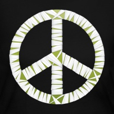 Mummy Peace Sign Women's Long Sleeve Jersey T-Shirt
