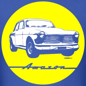 Yellow on blue Volvo Amazon tee - Men's T-Shirt