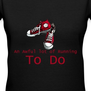An Awful lot of Running to Do V-Neck - Women's V-Neck T-Shirt