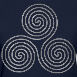 TRIPLE SPIRAL one line silver | Women's standard weight shirt - Women's T-Shirt