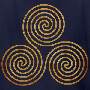TRIPLE SPIRAL one line gold | Children's shirt - Kids' T-Shirt