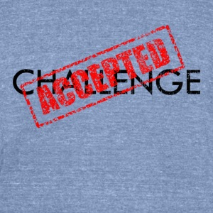Challenge Accepted | Robot Plunger - Unisex Tri-Blend T-Shirt by American Apparel