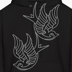 Tattoo Birds Z by Control Z Clothing.com Hoodies