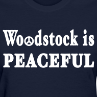Design ~ Woodstock is Peaceful Shirt by New York Old School