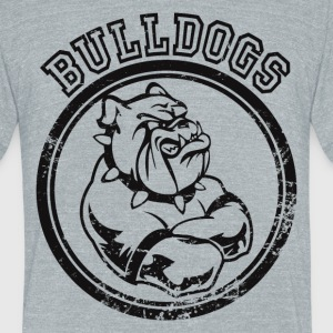 Custom Bulldog Sports Team Graphic T-Shirts - Unisex Tri-Blend T-Shirt by American Apparel