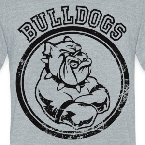 Custom Bulldog Sports Team Graphic T-Shirts - Unisex Tri-Blend T-Shirt