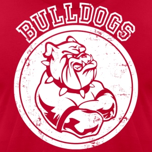 Custom Bulldog Sports Team Graphic T-Shirts - Men's T-Shirt by American Apparel