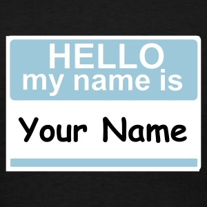 Name Tag, Hello - Men's T-Shirt