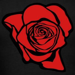 Rose (print on back of shirt) - Men's T-Shirt