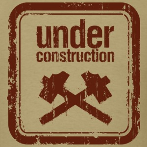 Under Construction Brown T-Shirts - Men's T-Shirt