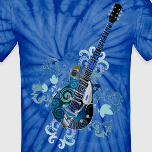 Urban LegendTie-Dye  Grunge Guitar with Logo on Neck of Guitar - Unisex Tie Dye T-Shirt
