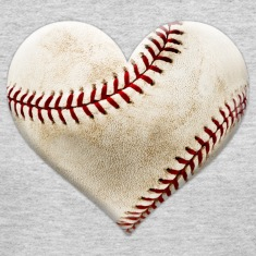 Baseball Heart Long Sleeve Shirts