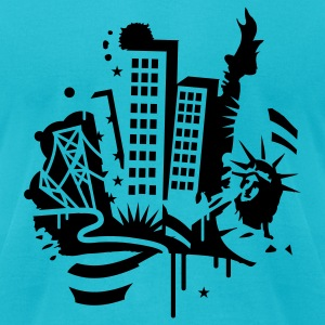 A New York City Design   in graffiti style T-Shirts - Men's T-Shirt by American Apparel
