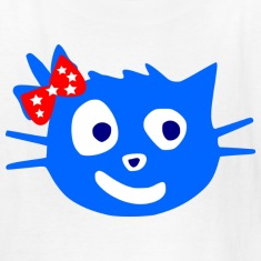 colorful cute blue cat animale vector
