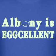 Design ~ Glow in the dark Albany is Eggcellent Shirt by New York Old School