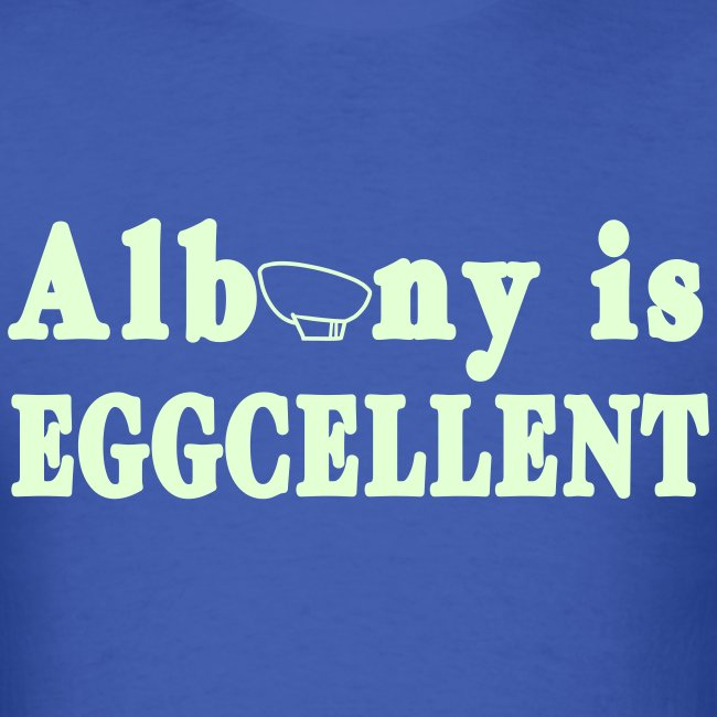 Glow in the dark Albany is Eggcellent Shirt by New York Old School