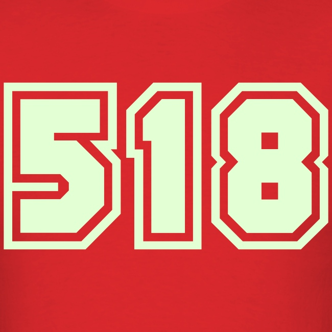 Glow in the dark Area Code 518 Shirt by New York Old School