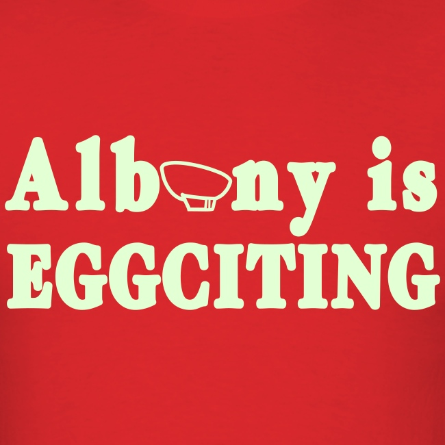 Glow in the dark Albany is Eggciting Shirt by New York Old School
