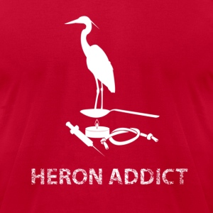 Heron Addict T-Shirts - Men's T-Shirt by American Apparel