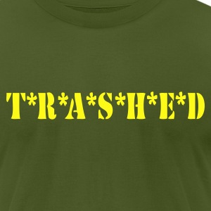 T*R*A*S*H*E*D - Men's T-Shirt by American Apparel