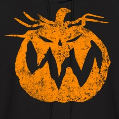 Orange Grunge Pumpkin Hoodies