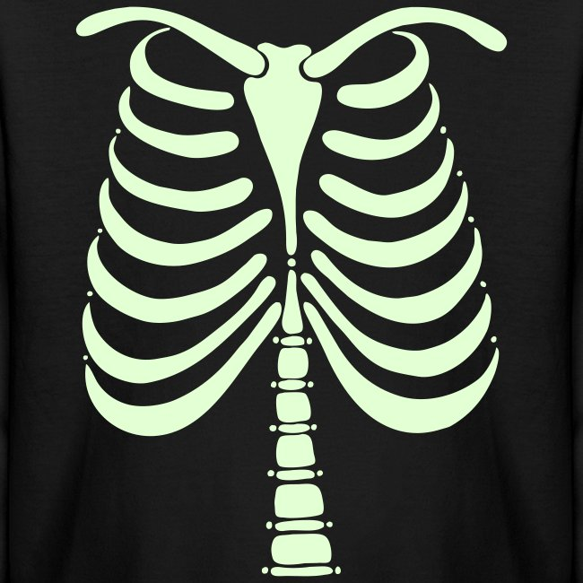 3940eefe maboles: Art & Design | Skeleton Bones Glow in the Dark Kids Long ...