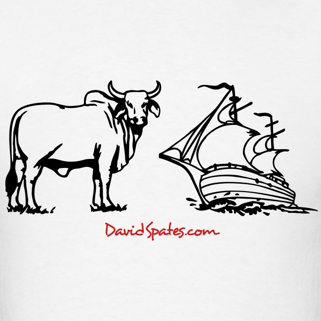 Bull Ship -  Cartooned Men's Standard Weight T-Shirt