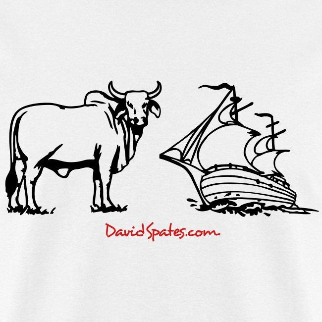 Bull Ship -  Cartooned Men's Standard Weight T-Shirt