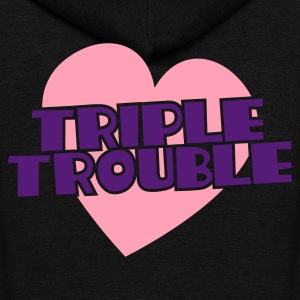 triple trouble heart triplets heart Zip Hoodies/Jackets - Unisex Fleece Zip Hoodie by American Apparel