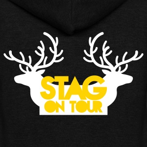 BACHELOR stag on tour with reindeer stags Zip Hoodies/Jackets - Unisex Fleece Zip Hoodie by American Apparel