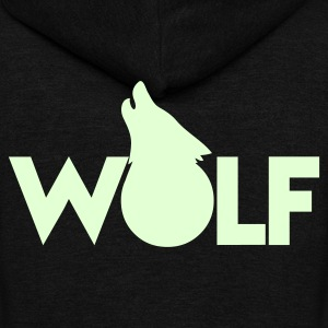moon WOLF wolves howling design Zip Hoodies/Jackets - Unisex Fleece Zip Hoodie by American Apparel