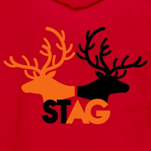 STAG double stag two reindeer  Zip Hoodies/Jackets - Unisex Fleece Zip Hoodie by American Apparel