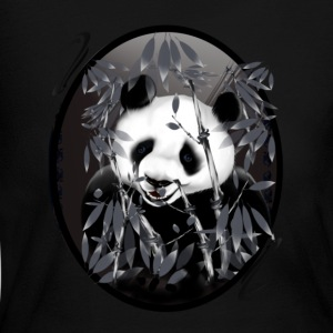 Grey tone Panda-oval - Women's Long Sleeve Jersey T-Shirt