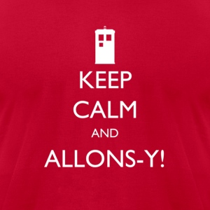 Keep Calm and Allons-y!| Robot Plunger - Men's T-Shirt by American Apparel