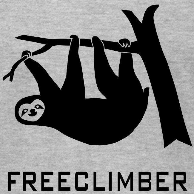 shirt sloth freeclimber climbing freeclimbing boulder rock mountain mountains hiking rocks climber